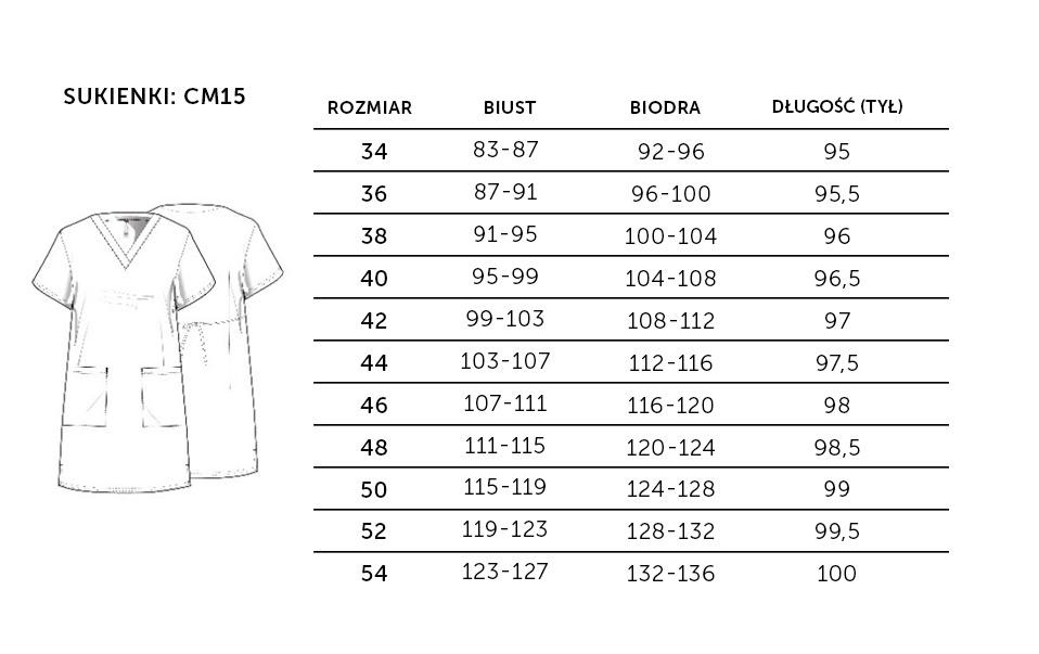 CM15 Sukienka rozmiary