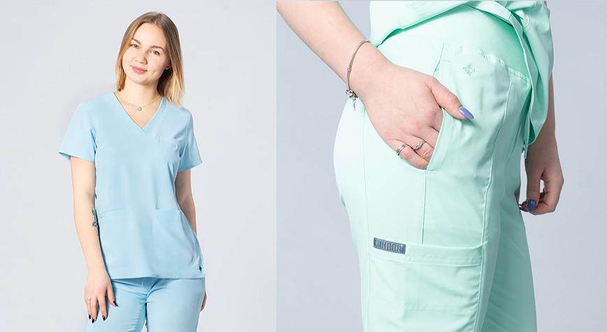 Bluza i spodnie dla fizioterapeutów