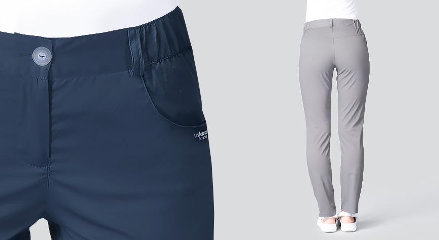 Spodnie medyczne damskie wąskie nogawki
