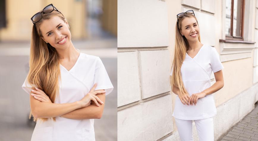Biały Uniform