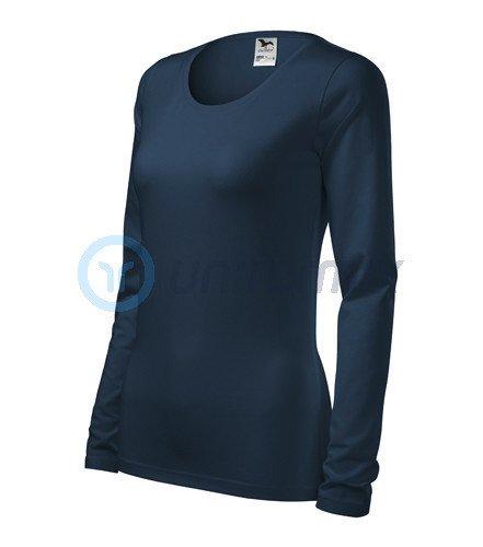 87a1e87c826b74 Koszulka damska z długim rękawem, AD139, granatowa Navy Blue ...