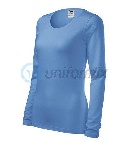 1a203002e48d0f Koszulka damska z długim rękawem, AD139, niebieska jasna niebieski ...