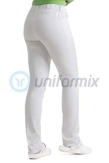 dd28b4aa Spodnie medyczne damskie Uniformix, wąskie nogawki, białe. UN1211-STRETCH