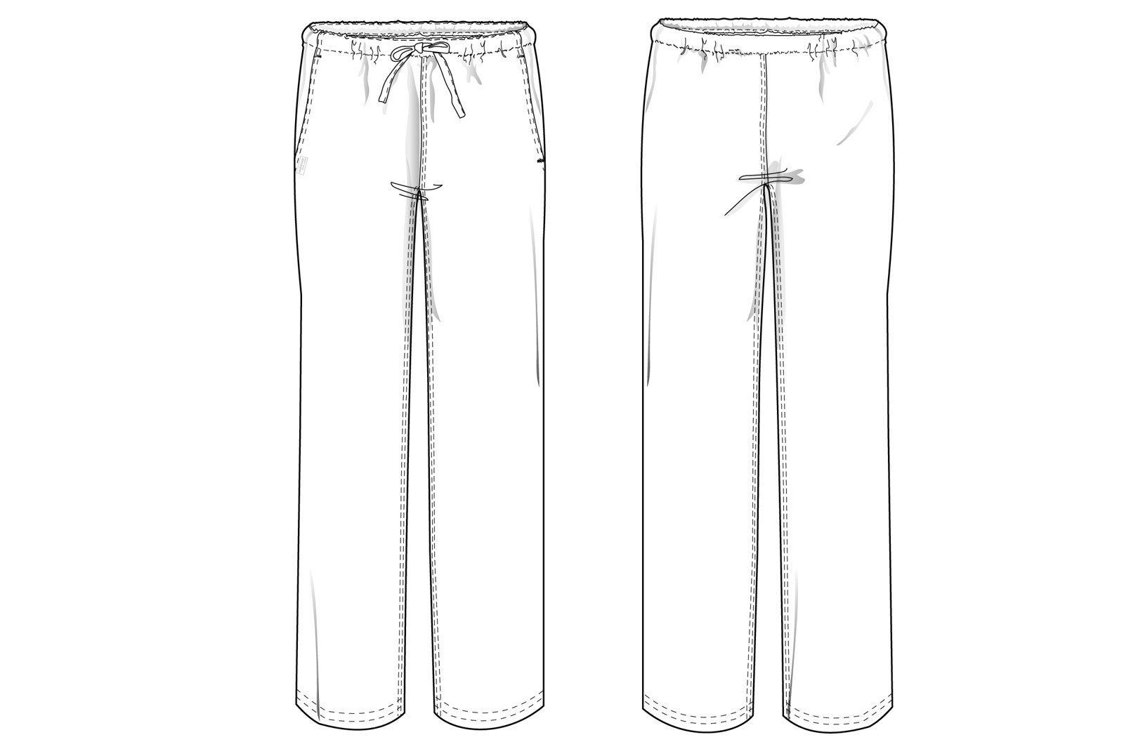 Spodnie medyczne uniwersalne Uniformix Club Med, białe. CM119