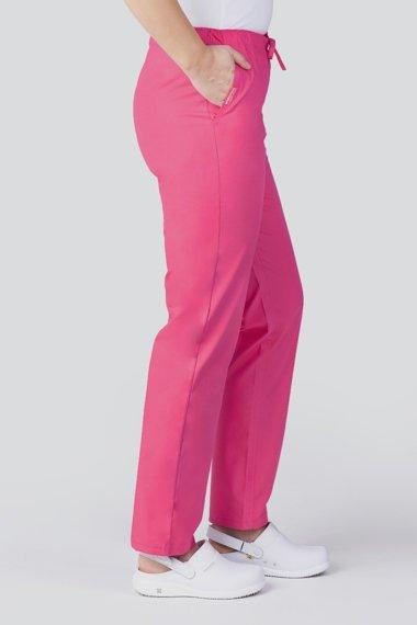 Spodnie medyczne uniwersalne Uniformix Club Med, róż intensywny. CM119