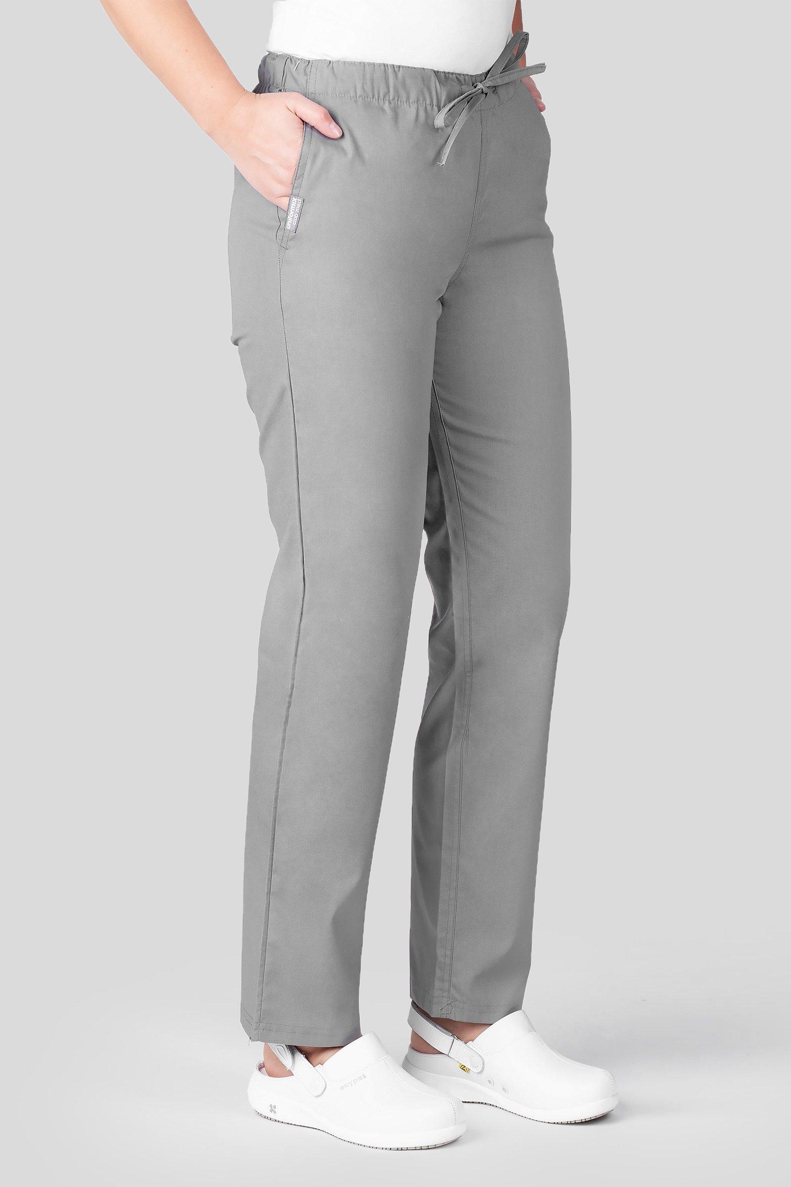 Spodnie medyczne uniwersalne Uniformix Club Med, szare ciemne. CM119